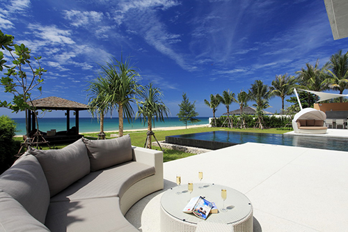 Exterior shot of luxurious Phuket beach villar